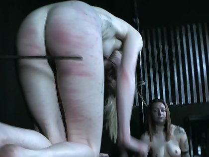 Naked milf spanked and force fucked in BDSM game