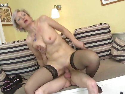 Real granny gets fucked by her toyboy