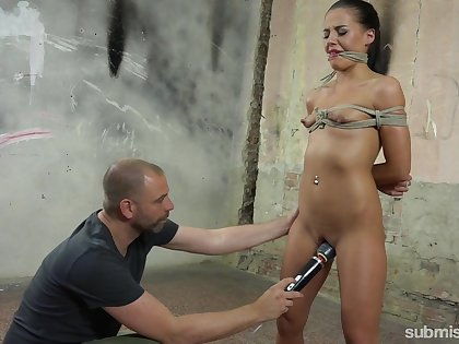 She wanted a 50 shades for Grey fuck and she receives a brutal BDSM